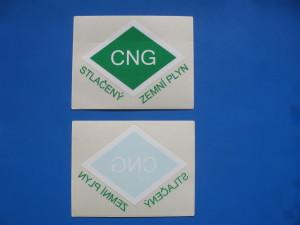 CNG nálepky