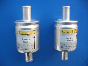 Filtr plynné fáze 14 a 16mm jednorázový