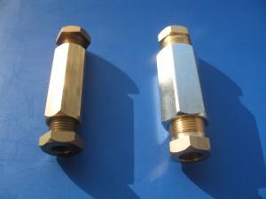 Spojky měděného potrubí velikost 6 a 8
