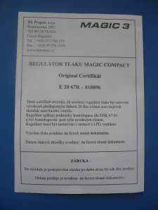 Reduktor Magic 3 Compact - Originální certifikát